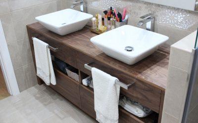 Diseño de mueble de baño de dos senos a medida